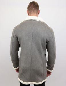 Lammy Coat - Shearling Jacke Lammfell - Grau - L