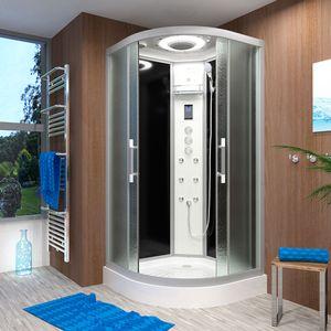 AcquaVapore QUICK26-0311 Dusche Duschtempel Komplette Duschkabine -Th 80x80 OHNE 2K Scheiben Versiegelung