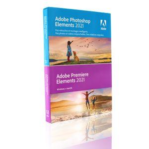 Adobe Photoshop Elements 2021 Premiere Elements 2021 Retail 1 Gerät unbegrenzt PC/MAC Disc Französisch