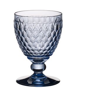Villeroy & Boch Boston coloured Rotweinglas blue 4 Stück Nr. 1173090021 und 4er Set EKM Living Edelstahl Strohhalme