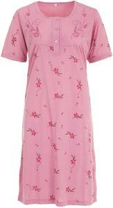 Nachthemd Kurzarm Stickerei Blume, Größe:XL, Farbe:Altrosa