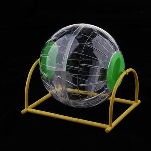 1 Stück Hamster atmungsaktive Halterung Laufübungsball Spielzeug mit Ständer grün wie beschrieben