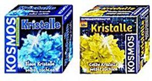 Kristalle selbst züchten blau + gelb Kosmos