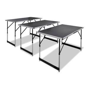 Tapeziertisch Möbel,Tische,Klapptische 3 Stk. Klappbar Höhenverstellbar