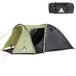 6-Personen-Zelt Grün Campingzelt Camping Zelt Familienzelt Iglu Kuppelzelt NEU