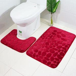 2 Stück rutschfeste Ständer Badematten Set atmungsaktivem Memory-Schaum Bad-Teppiche angenehm weiches Wasser saugfähig WC Badezimmer Teppich rutschfest Ständer Unterstützung