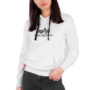 Alpha Industries Damen Hoodie New Basic Hoody , Größe:M, Farben:white