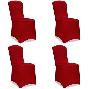 4x Stuhlhussen Stretch Stuhlbezug Universal Stuhl Bezug Hussen Set Weihnachten, Farbe:bordeauxrot