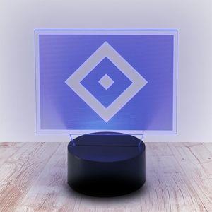 HAMBURGER SV HSV LED Licht Raute blau weiss schwarz -