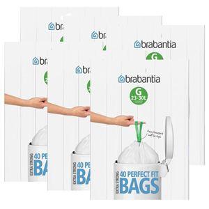Brabantia Müllbeutel Spenderverpackung (G) 23-30 Liter, 40 Mülltüten (6er Pack)