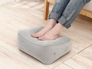 Fußablage Fußstütze Fußkissen Hocker Fußhocker aufblasbares Kissen Füße Ablage