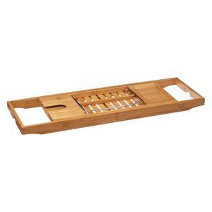 Badewannenablage Badewannenbrett Bambus ausziehbar 70-105 cm