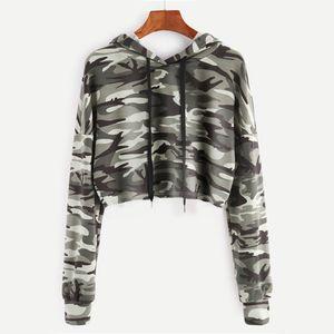 Damen Hoodie Camouflage Bedrucktes Sweatshirt Langarm Pullover Tops Bluse HCM80809171 Größe:M,Farbe:Bunt