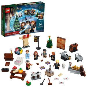 LEGO 76390 Harry Potter Adventskalender 2021 Spielzeugset, Weihnachtsgeschenkidee für Kinder ab 7 Jahren mit 6 Minifiguren und Spielbrett