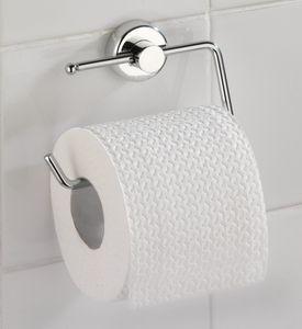WENKO Power-Loc Toilettenpapierrollenhalter Simple, Befestigen ohne bohren; 17838100