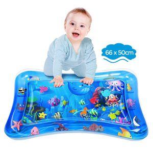 Wassermatte Baby, Wasserspielmatte BPA-frei, Baby Spielzeug 3 6 9 Monate, Aufblasbare Bauchzeit Matte (65 x 50 cm)