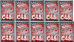 Turbohefe Double Snake C48 Vodka Alkohol Hefe Weinhefe 21%, 10 Stück