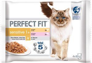 Perfect Fit Sensitive 1+ |Katzenfutter Nassfutter Portionsbeutel Multipack 4x85g