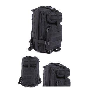 Daypack   Outdoor Backpack  Sportrucksack 30 Liter für Camping Trekking Reiseliebhaber Schwarz