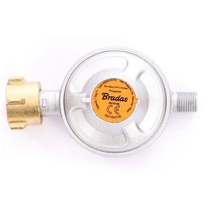 Gasdruckregler 50 mbar, Niederdruckregler Druckminderer - ideal für Gasgrills, Heizstrahler, Hockerkocher, Gaskocher, Lampen, uvm.