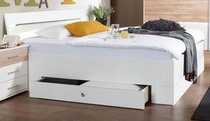 Doppelbett Cheep Futonbett mit Bettschubladen 180x200cm weiß