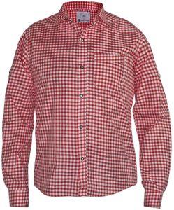Kariertes Trachtenhemd für Trachtenlederhosen , Größen:L, Farben:rot