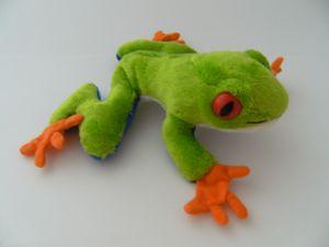Plüschtier Rotaugenlaubfrosch 16 cm, Kuscheltiere Stofftiere Laubfrosch Frösche Frosch