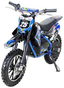 Kinder Mini Enduro Crossbike Gepard Elektro 500 Watt Motorcrossbike Pocketbike (Blau)