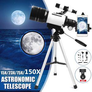 Meco 70mm Apertur Teleskop 300mm Refraktor Spiegelteleskop Astronomie Fernrohr Set