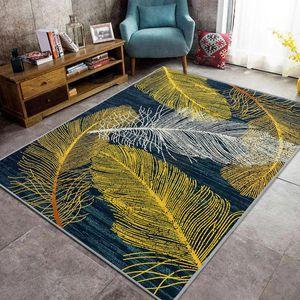 120*160cm Kurzflor Teppich Feder Teppiche Bettvorleger für Schlafzimmer Wohnzimmer