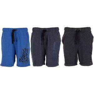 UNCLE SAM Herren Bermuda Shorts Burn out, Größe:L, Farbe:Black burn out