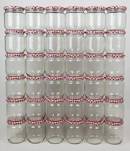 36 Einmachgläser 425 ml Schraubdeckel Marmeladengläser Sturzgläser Einmachglas