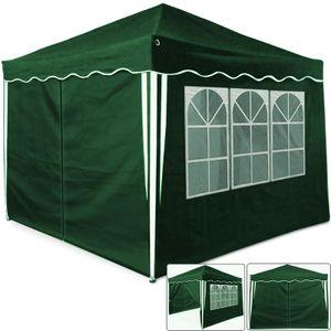 Faltpavillon 3x3 m mit 4 Seitenwänden + praktischer Tragetasche