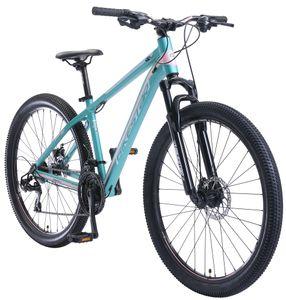 BIKESTAR Alu Mountainbike 27.5 Zoll | 21 Gang Hardtail Sport MTB 16 Zoll Rahmen Scheibenbremse Federgabel | Türkis Rosa