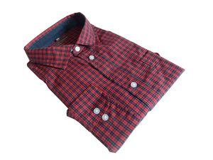 Herren Hemd langarm karo kariert - in Übergrösse bis 6XL - 61580, Farbe:rot, Größe:5XL