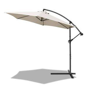 VOUNOT Ampelschirm mit Schutzhülle 300 cm, Beige