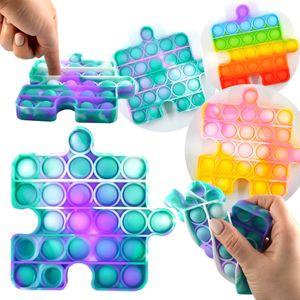 Magic Push Pop It Spiel Puzzle Batik Bunt Anti Stress Fidget Noppen Rund Kinder 12cm