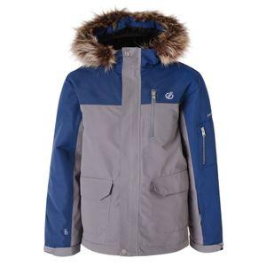 dare2b Kinder Winter-Ski-Jacke Skijacke Furtive Jacket mit Kunstfellkragen grau, Größe:152