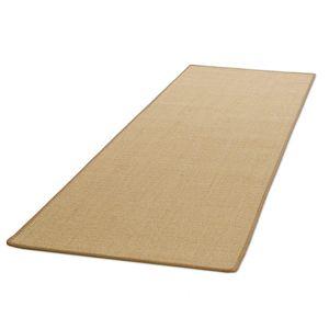 Teppich-Läufer auf Maß gekettelt Salvador natur Kettelung: Beige Breite: 50 cm, Länge: 400 cm