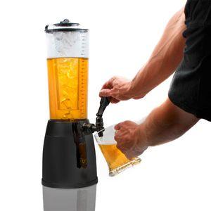 4,0L Biersäule Zapfsäule Kult Biertower Trinksäule Getränkespender Getränkesäule 1,3L Eiskühlung