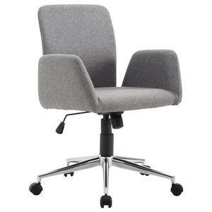 HOMCOM Bürostuhl Drehstuhl Bürosessel Chefsessel Armsessel Schreibtischstuhl Stoff Grau