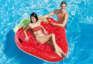 Intex Luftmatratze Erdbeere aufblasbar, 168 x 142 cm