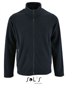 Herren Plain Fleece Jacket Norman - Farbe: Navy - Größe: XXL