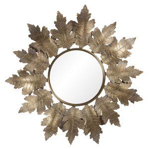 Clayre & Eef Wandspiegel 52S220 86*5*84 cm - Goldfarbig Metall / Glas Spiegel Groß Schminkspiegel Badspiegel