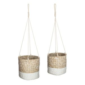 2er Set Blumentöpfe, hängende Seegrasdärme für Pflanzen, 2er Set