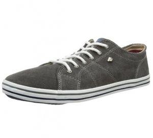BK - FAUX dk.grey, B32-3775-04, Herren Sneaker SUEDE Leder dunkelgrau Größe 39
