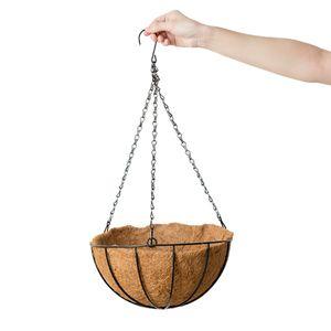 Kokosnussschalen Hängekorb für Garten Hängekörbe Blumenpflanzentopf 30cm Braun Kokosnussvase