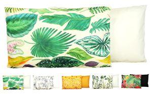 JACK Outdoor Lounge Kissen 30x50cm Motiv Dekokissen inkl. Füllung Wasserfest Sitzkissen Garten Stuhl, Farbe:Amazonas