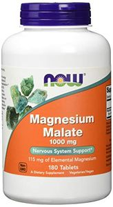 Now Foods Magnesium Malate 1.000mg Mineralien 180 Tabletten