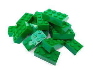 Lego© Steine 20 grüne originale basic Bausteine mit 2*4 Noppen *neu und unbespielt*